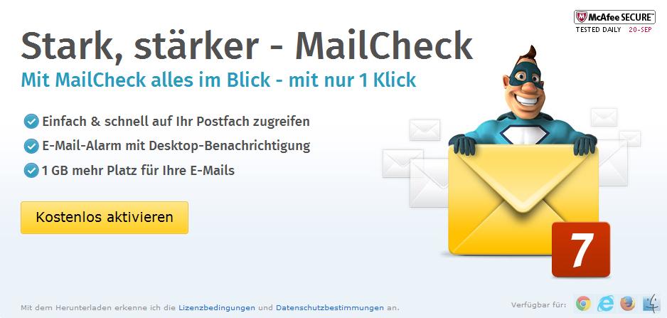 WEB.DE-Mailcheck